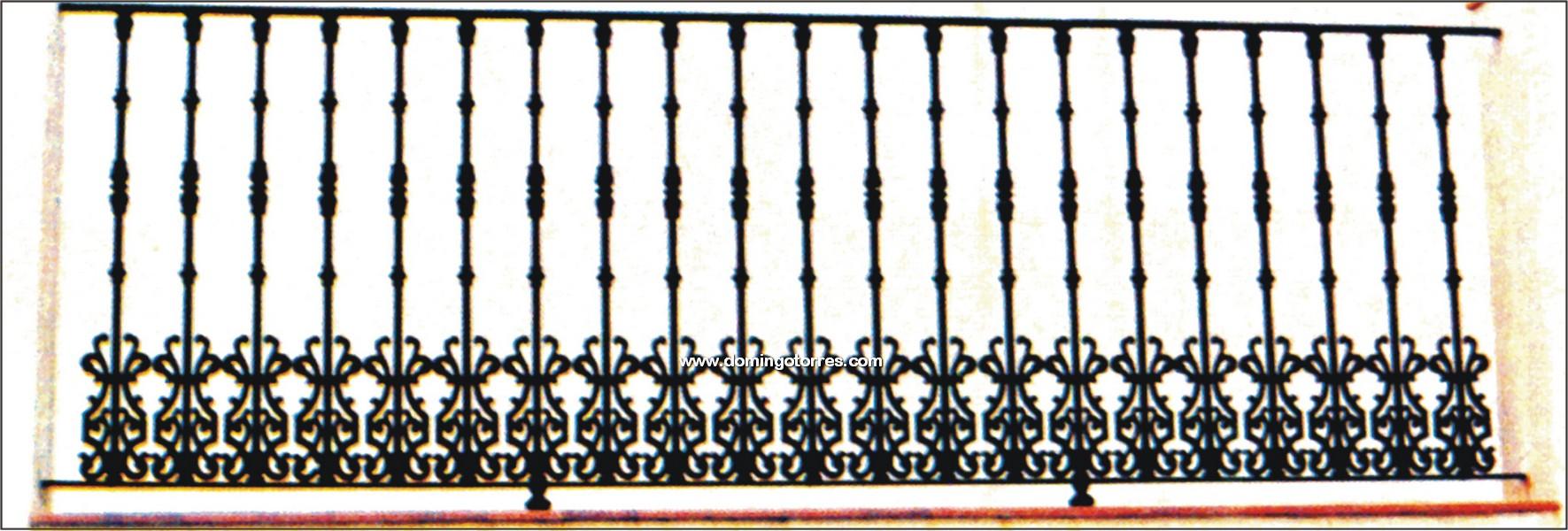 5063 Verja forja y hierro fundido