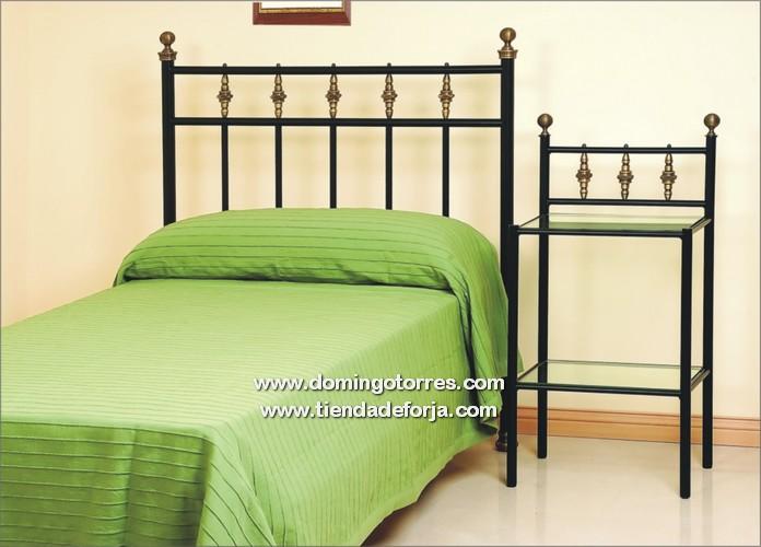 Cabecero y cama de forja econ mica con lat n de estilo - Cabeceros de cama antiguos ...