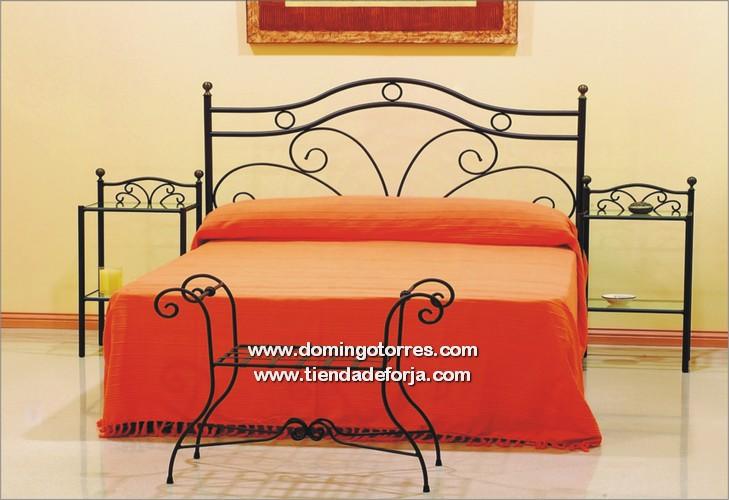 Cabecero y cama barata de forja art stica y estilo r stico c 11 forja domingo torres s l - Cabecero de hierro ...