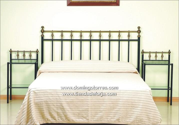 Cabecero y cama r stica de forja con lat n c 2 forja - Camas de forja antiguas ...