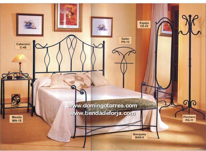 Cabeceros y camas de laton y forja muebles de forja - Cabecero hierro forjado ...