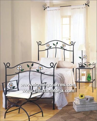 V deos de camas y cabeceros de forja art stica y aluminio - Cabeceros de forja infantiles ...