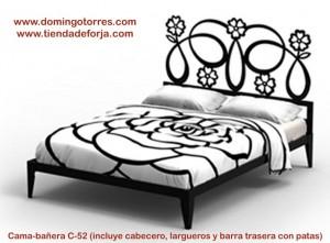 Cabecero y cama de forja moderna y elegante C-52 galatea