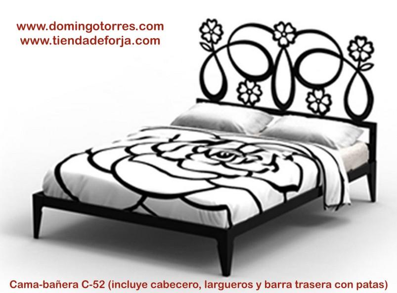Cabecero cama o cabezal de forja moderna c 52 galatea forja domingo torres s l - Cabecero cama forja ...
