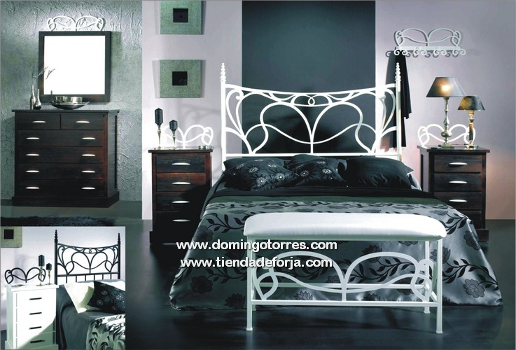 Cama cabecero y cabezal de forja moderna c 55 hera - Dormitorios de forja modernos ...