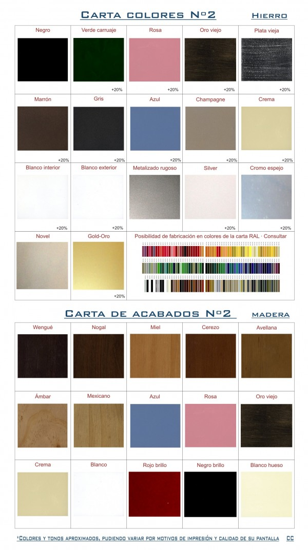 Carta colores de forja y madera Nº2
