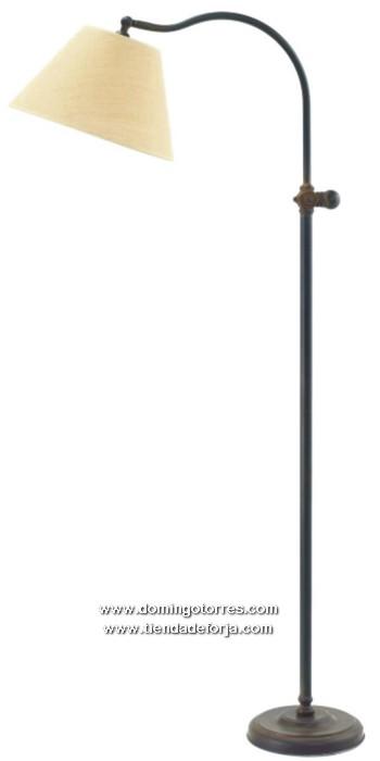 LP-12 Lámpara pie forja con pantalla