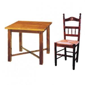 Mesas y sillas de forja art stica aluminio y madera para - Mesas y sillas de forja ...