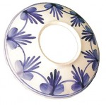 Plato cerámica blanco con azul