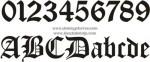 AV-16 Letras y números forja góticos
