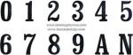 AV-16 Letras y números forja sencilla
