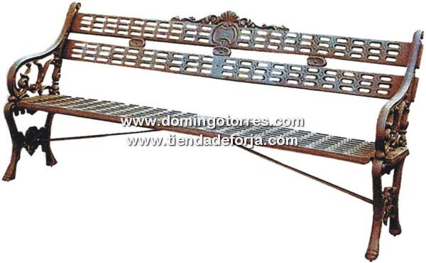 Banco de hierro fundido modelo sevilla para jardines y for Bancos de forja para jardin