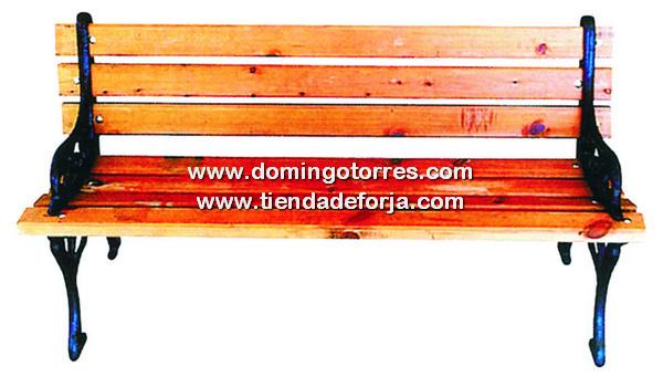 B-8 Banco hierro fundido y madera