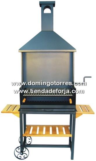 BAR-6 Barbacoa de forja y acero inox