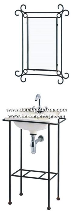 BÑ-2 Espejo y lavabo forja