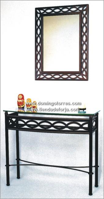 consola y espejo de forja art stica ce 1 forja domingo