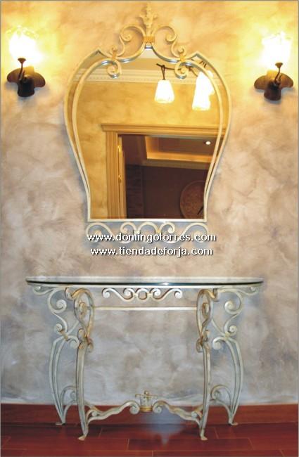 CE-11 Consola y espejo de hierro forjado