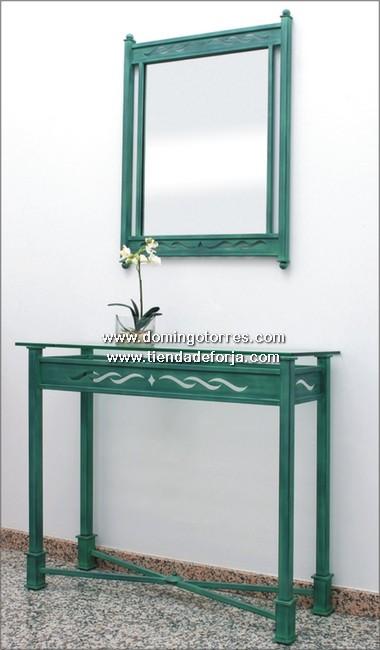 CE-13 Consola y espejo forja artística