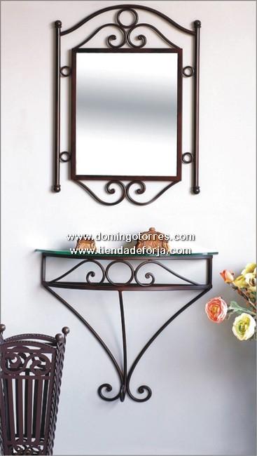 espejo y consola de forja artstica ce