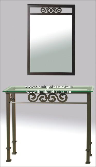 CE-15 Consola y espejo forja artística