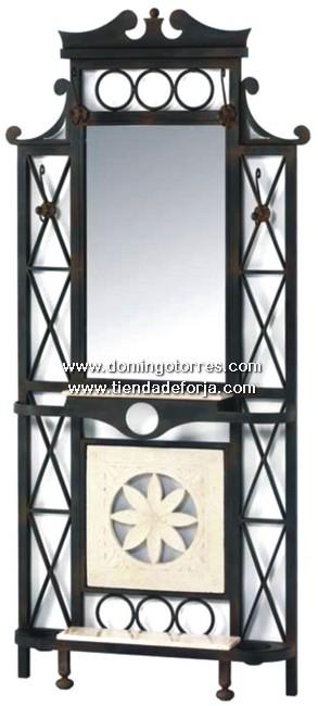 CE-6 Consola y espejo forja artística