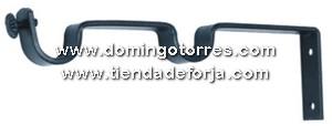 Soporte cortinero de forja cor 2 forja domingo torres s l - Barras de forja para cortinas ...