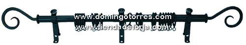 Kit barra de cortina en forja cor 23 forja domingo torres s l - Barras de forja para cortinas ...