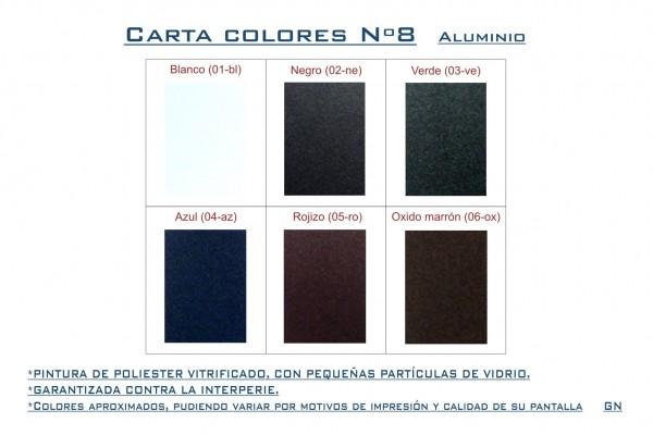 Carta colores Nº8