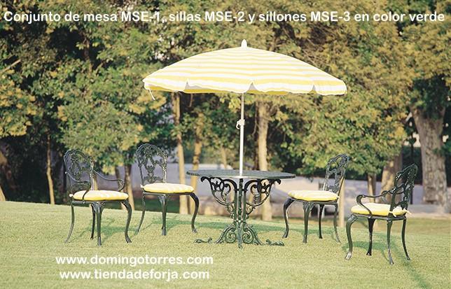 Mesa silla y sill n de alumino para exterior mse 1 mse 2 for Mesa 3 en 1 con 2 sillas