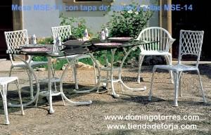 Conjunto para jardín de mesa MSE-13 y silla MSE-14