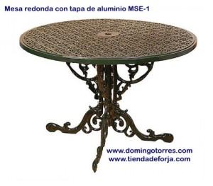 MSE-1 Mesa redonda de aluminio modelo inglés