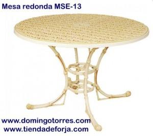 MSE-13 Mesa de aluminio imitación a caña de bambú filipinas