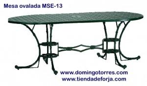 MSE-13 Mesa ovalada modelo filipinas imitación caña bambú