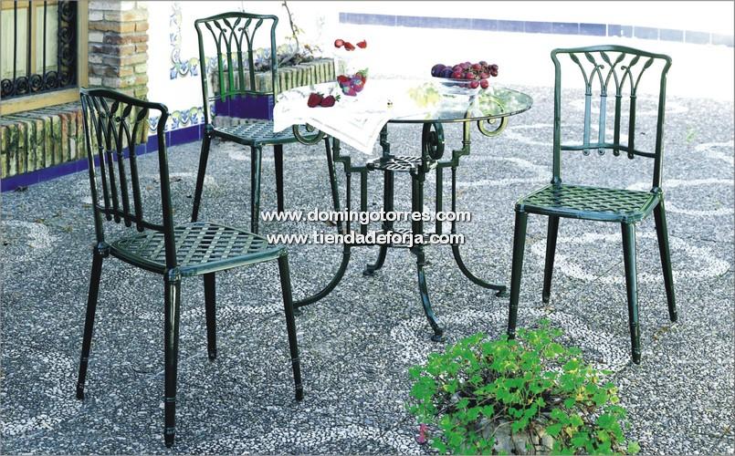Mesa mse 25 y silla mse 38 para jard n forja domingo for Sillas de forja para jardin