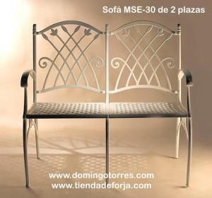 MSE-30 Banco-sofá de aluminio fundido modelo puerto
