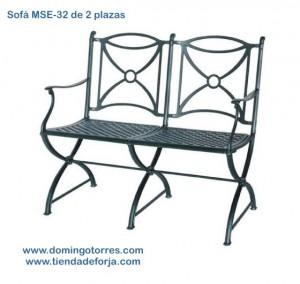 MSE-32 Sofa-banco de aluminio ornamental jamuga