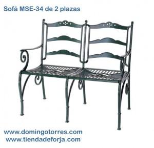 MSE-34 Banco sofá de aluminio para patios, parques y jardines