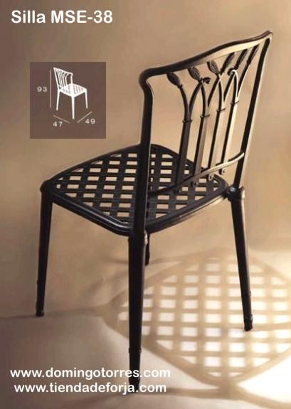 Mesa mse 25 y silla mse 38 para jard n forja domingo for Sillas para jardin de herreria