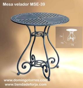 MSE-39 Mesa velador para terrazas, bares y jardines triana