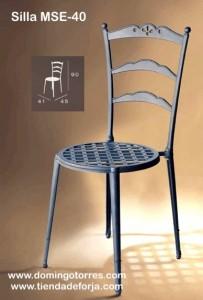 MSE-40 Silla para jardínes, patios, bares y terrazas rocio