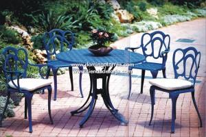 Mesas y sillas de aluminio pvc mimbre o madera para for Mesas de terraza y jardin baratas