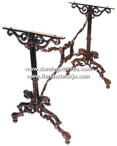 Mesa de hierro fundido mse 71 forja domingo torres s l - Patas de forja para mesas ...