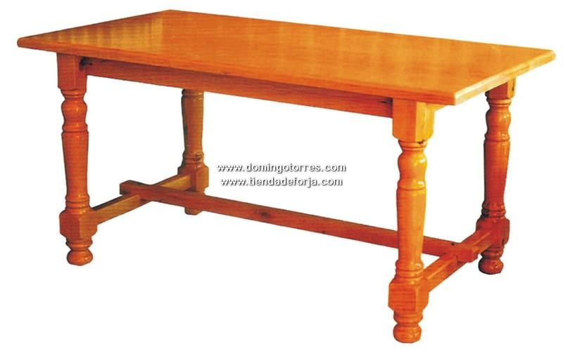Mesa de madera msh 10 forja domingo torres s l for Mesa bar de madera