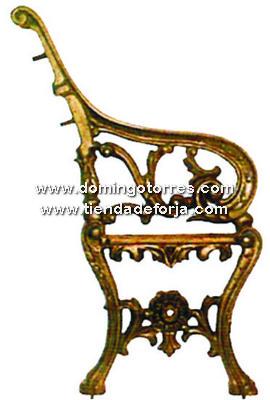 PB-4 Pata banco hierro fundido