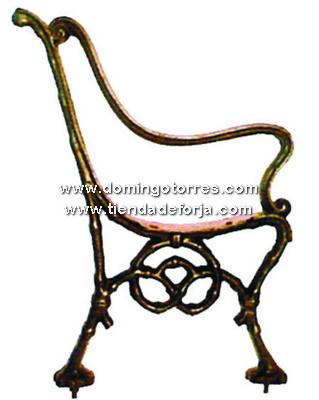 PB-6 Pata banco hierro fundido