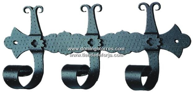 PE-10 Percha pared hierro forjado