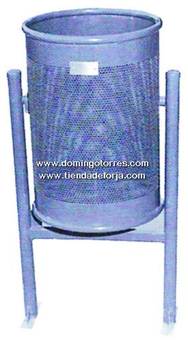 PP-1 Papelera hierro y acero inox