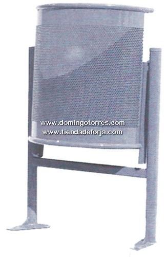 PP-2 Papelera hierro y acero inox