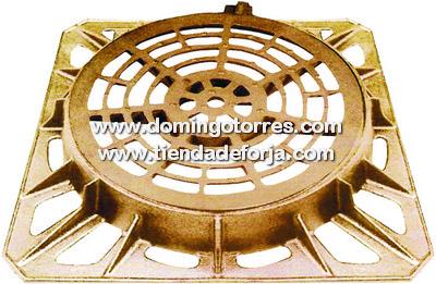 TS-26 Tapa redonda de fundición con marco