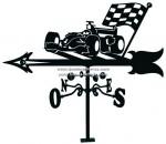 V-79 Veleta forja para tejado con coche carreras